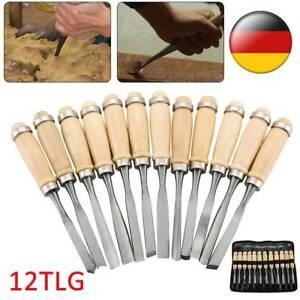 Schnitzwerkzeug Satz 12 Teilig Schnitzsatz Schnitzmesser Handwerk Holz Schnitzen
