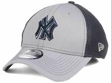 New York Yankees MLB Gray Neo Mesh Back Flex 39THIRTY Baseball Cap Hat Men's NYY