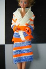 Knitted outfit that fits Barbie Fleur Sindy Petra 70s 80s