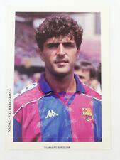 POSTAL MIQUEL ANGEL NADAL FC BARCELONA 1992-1995 FOOTBALL POSTCARD BARÇA SPAIN.
