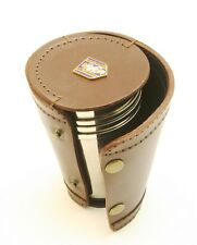 REME Royal Engineering 4 Stacking Stirrup Shot Cups in Leather Case NEW BKG20
