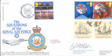 RAF FDC 2 - 1992 Europa signed SIR EDWARD HEATH + DOGGETT CO 56 Phantom Sqn