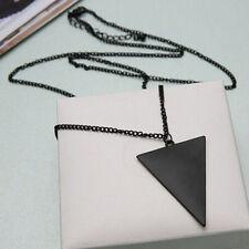 Fashion Womens Punk Triangle Pendant Retro Necklace Long Chain Sweater  Jewelry