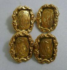 Antique Tiffany & Co. 18K Yellow Gold Men's Cufflinks - Engraved RFS