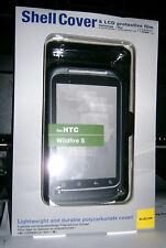 Handy Cover HTC Wildfire S Hardcase Oberschale Backcover schwarz+LCD Schutzfolie