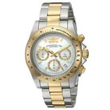 Invicta 24769 Para hombre Speedway Blanco Madre de Perla Dial Reloj De Buceo Pulsera dos tonos de acero