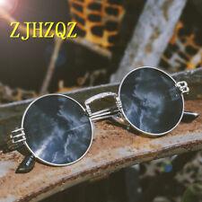 Vintage Retro Gothic Steampunk Sunglasses Womens Mirror Sport Driving Round Lens