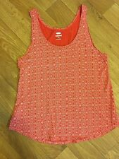"""GAP Relaxed"" Women's Orange & White Tank Top Cotton Blend Sz L"