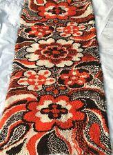 Mid Century Danish Modern Rya Style Shag Rug / Extremely Rare Area design Carpet