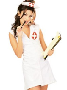 Small Womens Naughty Nurse Rubies Fetish Vinyl Sexy Fancy Dress Costume bnwt