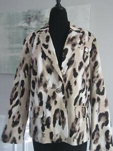 NEW CHICO'S Sz 2 Leopard Print Jacket NWT $139