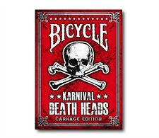 Karnival Death Heads Deck Bicycle Playing Cards Carnage Edition Big Blind Media