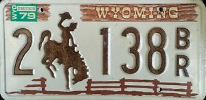 USA Number Licence Plate WYOMING BROWN PICKET FENCE