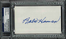 BABE HERMAN  SIGNED  INDEX CARD AUTO PSA/DNA
