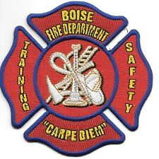 "Boise  Fire Dept.  Training - Safety, Idaho (4"" x 4"" size) fire patch"