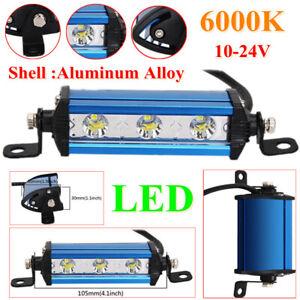 Ultra Thin Single Row LED Spot Work Light Bar Spotlight Off-Road Waterproof IP67