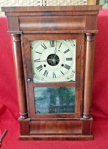 Mahogany 1890 Seth Thomas Column OG Striking Weight Driven Clock