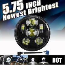 "Black 5-3/4"" 5.75 Round LED Headlight Hi-Lo Motorcycle Fit For Harley Davidson"