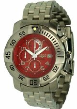 Trias Watches Divemaster Heavy Quarzchronograph Red Face Stainless Steel Band