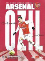 Arsenal v Sheffield United 18th January 2020 Match Programme 2019/20