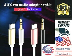USB-C to AUX 3.5mm Audio Cable Adapter Galaxy S8 S8+ S9 S9+ S10 Note 8 9 10 3FT