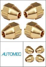 "AUTOMEC Brake Pipe Brass Union Fittings Female 3/8"" UNF x 24tpi 3/16 Pipe (4)"
