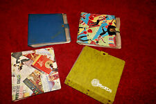4 Vintage 1950s / 1960's Single Record Storage Case Wallets All Excellent