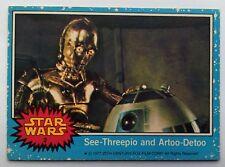 1977 TOPPS  STARWARS SEE-THREEPIO & ARTOO-DETOO  GUM CARD