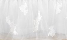 POTTERY BARN KIDS Monique Lhuillier Lace Applique Bed Skirt TWIN