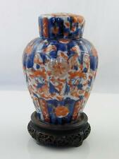 Hand Painted Imari Pottery Urn On Carved Base