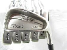 Used RH Titleist 804.OS 3-9 Iron Set Titleist Graphite Regular Flex R No 7 Iron
