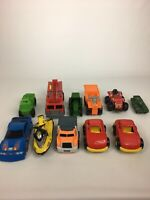Mixed Lot of 11 Plastic Toy Vehicles Cars Trucks Jet Ski