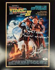 Lea Thompson James Tolkan autographed signed 11x14 Back To The Future PSA COA