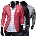 Korean Men's Slim Fit Blazer Tops Casual Two-Button Jacket Suits Coat Outwear