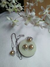 Auth SOUTH SEA PEARL Earrings Ring & Pendant Set in Micron Setting ON SALE