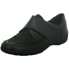 Waldläufer OrthoTritt Damen Schuhe Slipper Halbschuh Klett 496H31 schwarz Leder