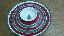 Grasslands Road Christmas Chip & Dip Plate