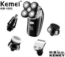 5 in 1 KEMEI Rotary Electric Mens Shaver Beard Hair Trimmer Bald Head Shaving