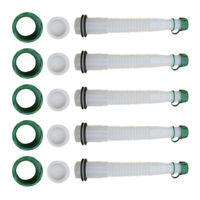 5set Rubbermade Replacement Gas Can Spout&Parts Vent Cap Flexible Gasket Stopper