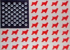 Kwc Bn50Cs Cocker Spaniel Dog American Flag Hand Painted Hp Needlepoint Canvas
