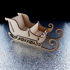 Santa's sleigh Christmas sweet present box mdf wood decoration kit