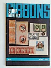 GIBBONS STAMP MONTHLY APR 1969-FALKLANDS,GAMBIA CENT,NEW CALIDONIA,OLD CEYLON