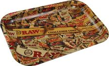 "2017 EDITION ""MIX"" RAW METAL ROLLING TRAY SMALL 27cm x 17cm RAW ROLLING TRAY"