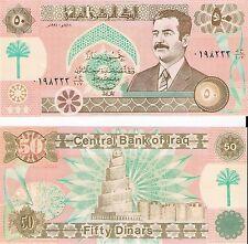 IRAQ 50 Dinars (Saddam Note) 1991, Pick 75, UNC  *RARE*