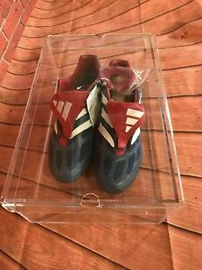 Sports Vintage Clear Acrylic Perspex Shoe Box for Clean Visible Storage Display