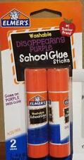 LOT OF 3 Elmer's Disappearing Purple School Glue Sticks|0.21 oz|NEW|USA SELLER