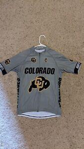 CU University of Colorado Buffaloes bike jersey, Men's Medium Small