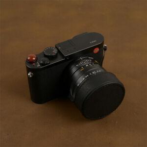 Leica Q QP Q2 Camera Lens Cap Protective Case Handmade Cowhide Accessories Gifts