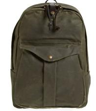 Filson Journeyman Green Coated Canvas Backpack B1432