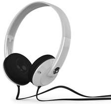Skullcandy Uprock On-Ear Stereo Headphones With Mic Tangle Free Flat Cable White